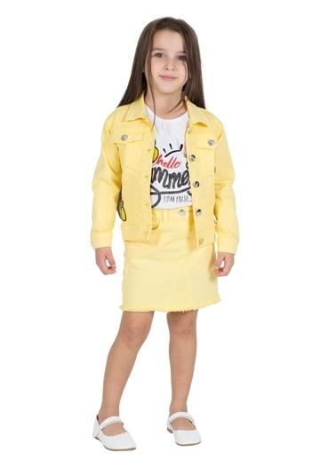 Silversun Kids Kız Çocuk Nakışlı Ceket Ck 215528 Sarı